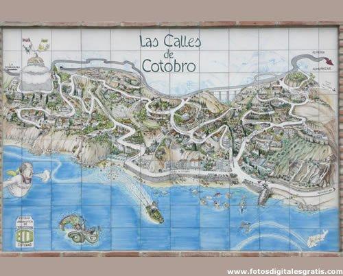 Mapa del Barrio Cotobro Almuñécar