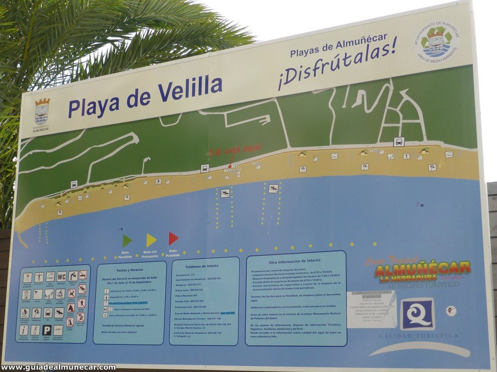 Playa Velilla, Servicios con Calidad Q, Almuñécar, Costa Tropical de Granada