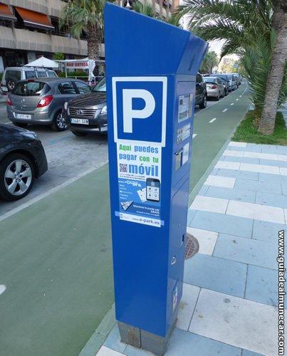 Servicio de Parking publico en calles y avenidas, zona azul de Almuñécar