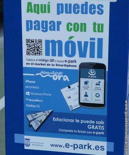 Pago de parking público zona azul ORA por medio de aplicación en dispositivo móvil