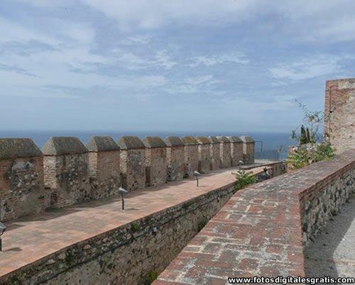 Defensas del Castillo de Salobreña, Granada.