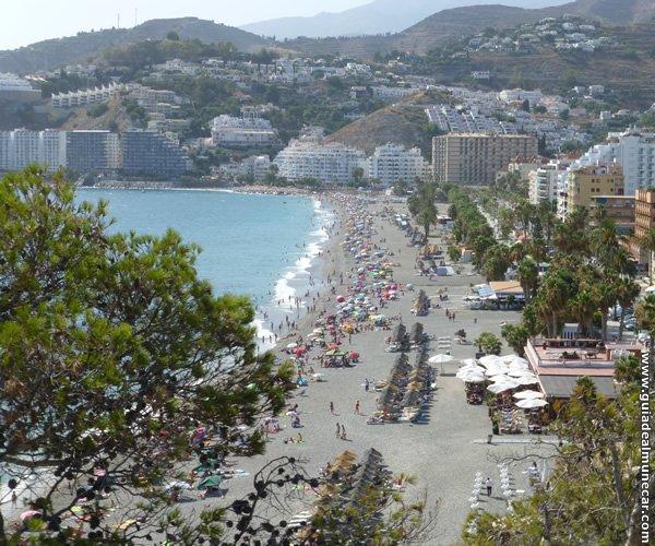 Vista desde el Peñón de la Playa San Cristóbal.