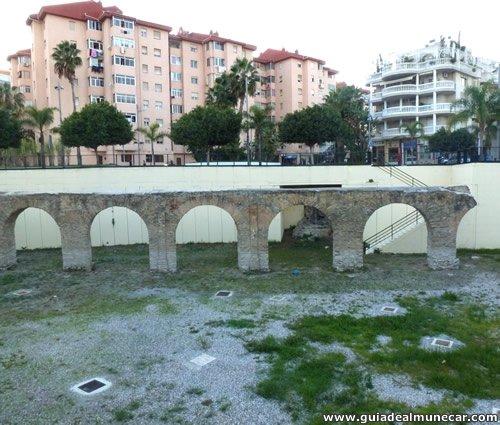 Acueducto Romano en la zona de las Carreras, Almuñécar