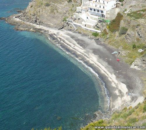 Playa Curumbico desde la Torre Vigia del Barranco de Enmedio, Almuñécar.