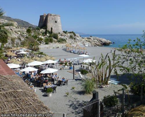 Playa de Arena con Atalaya entre Velilla y El Pozuelo.