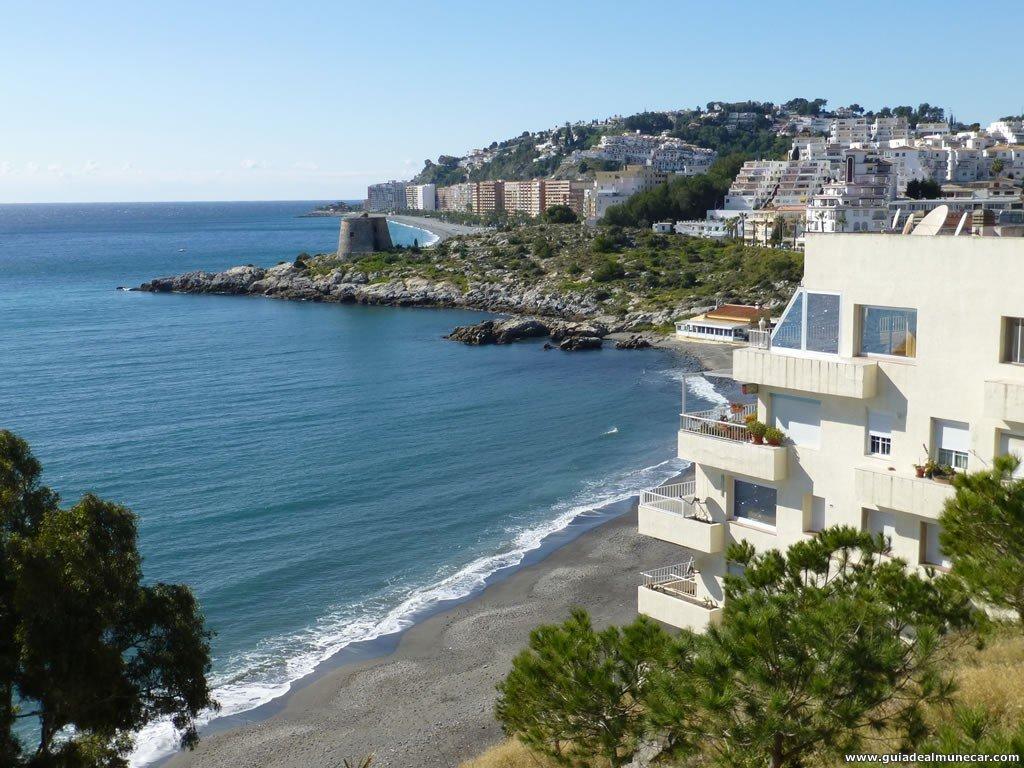 Vistas Playa Pozuelo desde el Parque del Mediterráneo, Taramay, Almuñécar