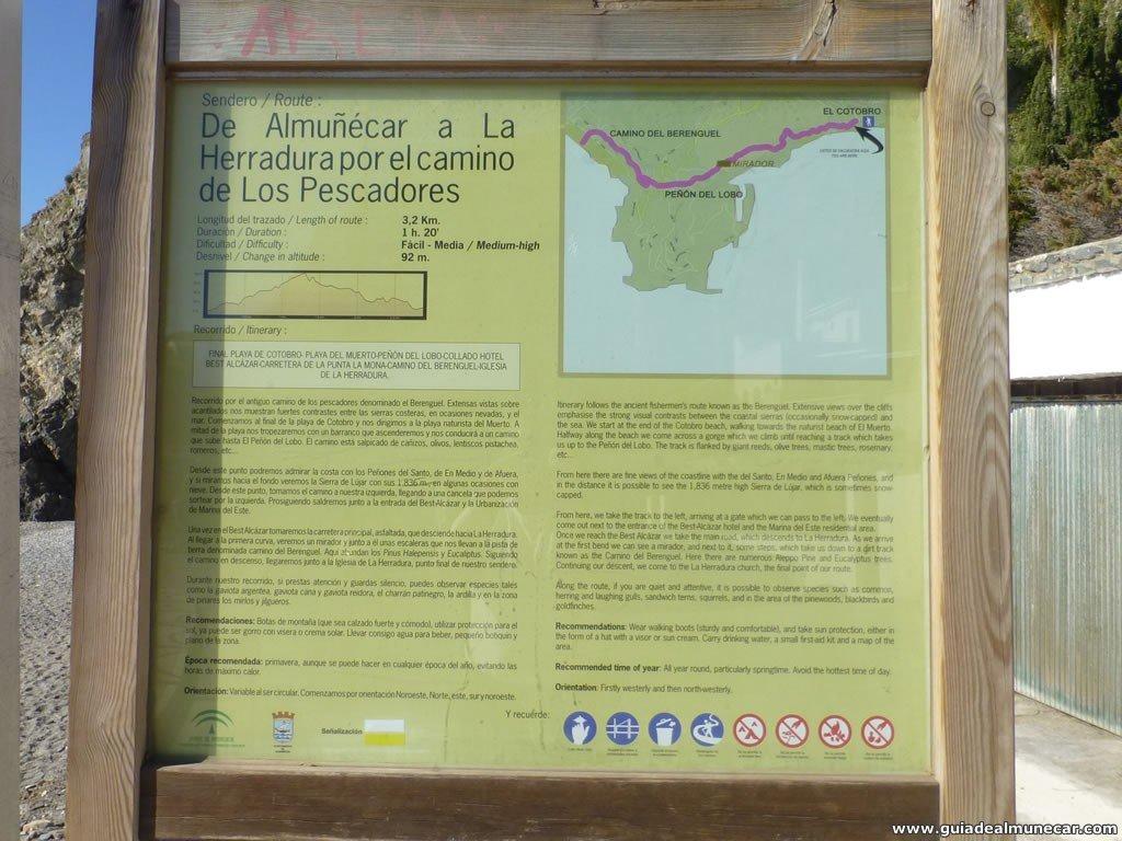 Camino del Berenguel, entre Cotobro y La Herradura, Almuñécar