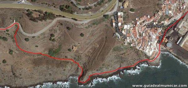 Paseo Marítimo, Sendero junto al mar y subida a Barranco.