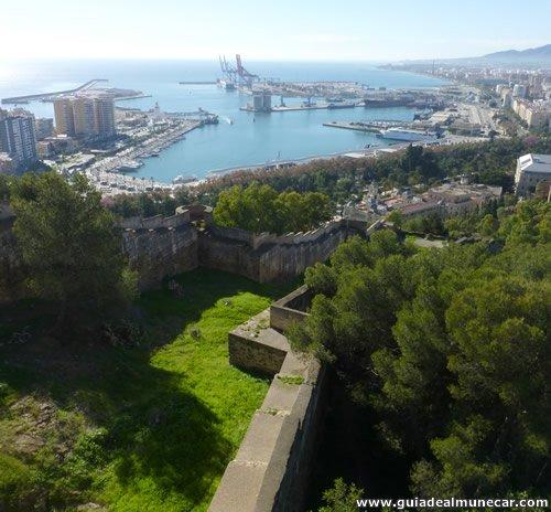 Vistas Panorámicas de la Ciudad de Málaga desde el Castillo de Gibralfaro.