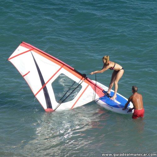 Windsurf Mujer, Playa Velilla, Almuñécar