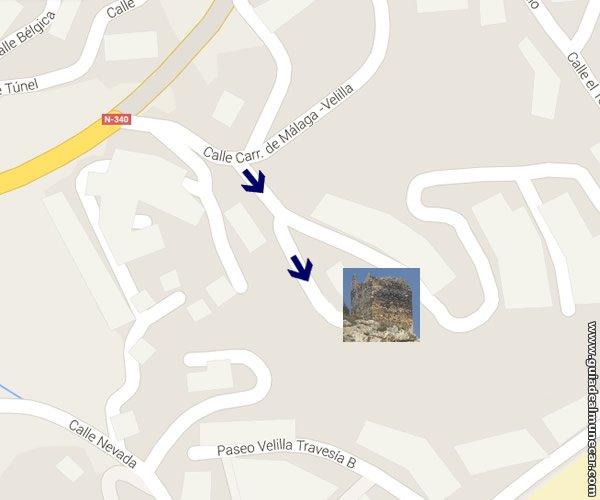 Mapa Velilla y Torre del Granizo
